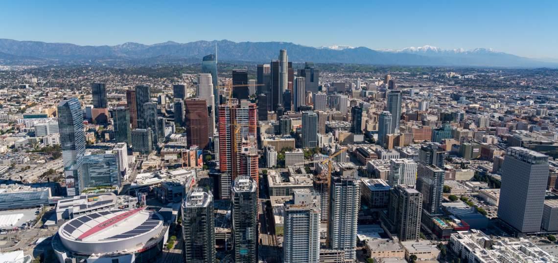 Downtown LA Skyline by Hunter Kerhart